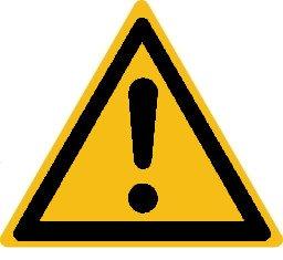 """Warmhinweise Material:Folie gelb Größe:Kantenlänge 25mm Kopfzeile:""""ohne"""" Barcode:ohne Stellenanzahl:ohne Ausführung:1 Etikett pro Nummer Menge:30"""