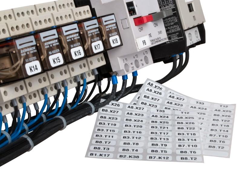 Haustechnik-Etiketten für Anlagebau
