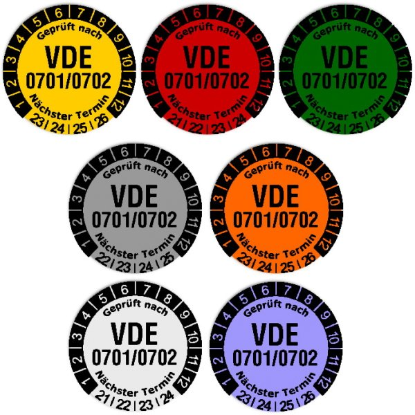 Anwendungsbild1:Datum Prüfetikett Material:Folie gelb Größe:Ø 20mm Nächste Prüfung:2023 Barcode:ohne Stellenanzahl:ohne Ausführung:1 Etikett pro Nummer Etiketten je Rolle:300
