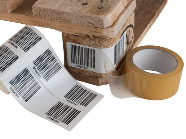 """Anwendung: Palettenetiketten Material:Polyethylen-Folie hochglänzend weiß Größe:150x50mm Kopfzeile:""""ohne"""" Barcode:128C Stellenanzahl:4-stellig Menge:300"""
