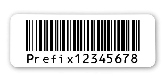 """Archivierungsetiketten Material:ThermoTop Größe:40x15mm Kopfzeile:""""ohne"""" Barcode:128B Stellenanzahl:8-stellig Sonderetikett:Uncodierter Präfix Menge:1000"""