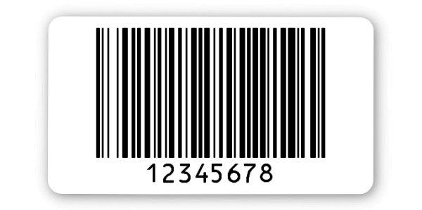 """Archivierungsetiketten Material:ThermoTop Größe:45x25mm Kopfzeile:""""ohne"""" Barcode:128B Stellenanzahl:8-stellig Menge:1000"""