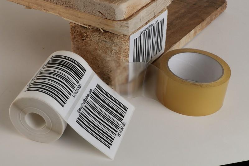 Lager etiketten (einseitige Anbringung)