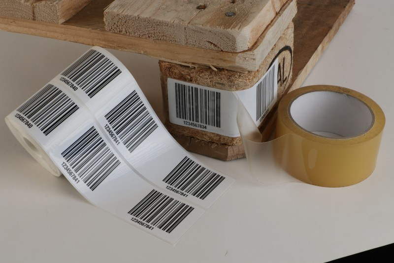 Lager etiketten- Palette