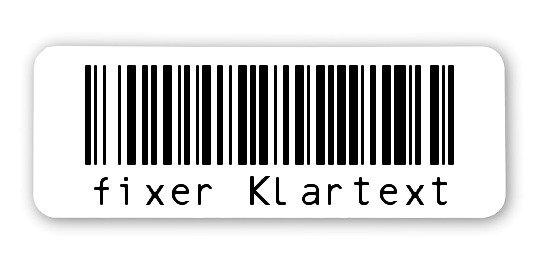 """Sonderetiketten Material:ThermoTop Größe:40x15mm Kopfzeile:""""ohne"""" Barcode:128B Stellenanzahl:8-stellig Ausführung:1 Etikette pro Nummer Menge:1000"""