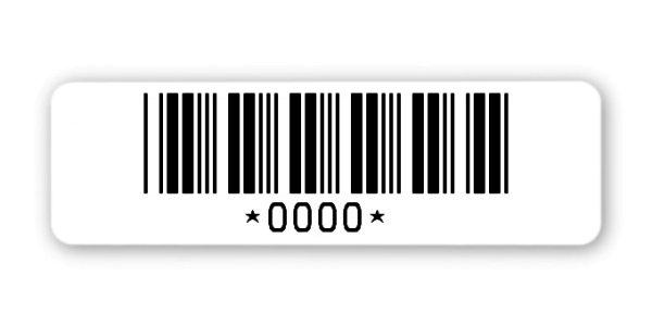 Sonderetiketten Material:ThermoTop Größe:50x15mm Logo:Mit Logo Barcode:Code 39 ohne Prüfziffer Stellenanzahl:ohne Ausführung:1 Etikette pro Nummer Menge:1000