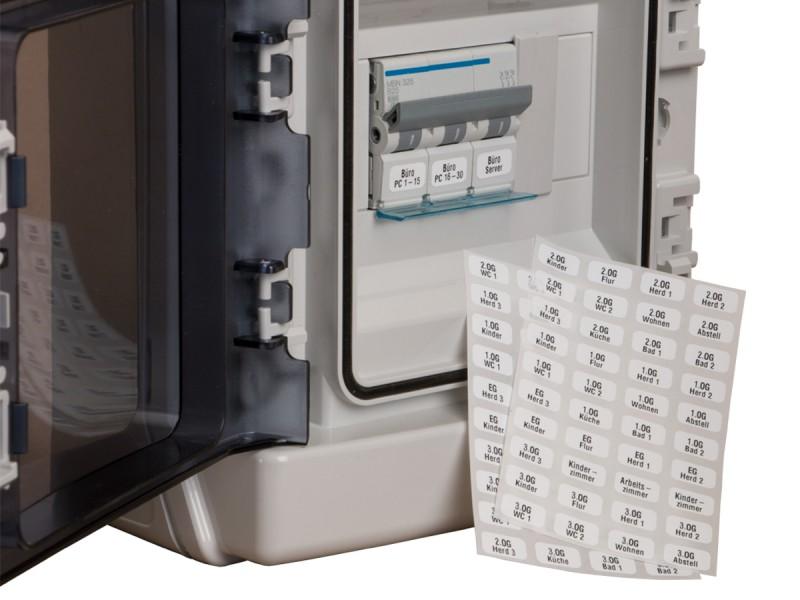 Haustechnik-Etiketten für Sicherungen