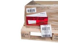"""Anwendung: HU Etiketten Material:Papier Größe:103x74mm Kopfzeile:""""Ihr Wunschtext"""" Barcode:128C Stellenanzahl:6-stellig Menge:300"""