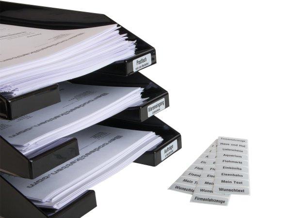 Ablagefächer Etiketten mit Wunschtext, 10 Stück