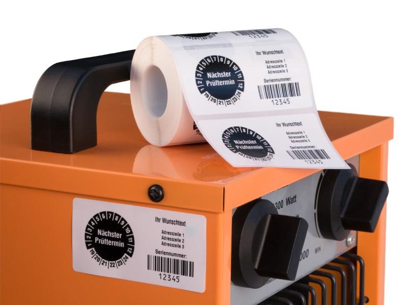 geräteprüfung etiketten
