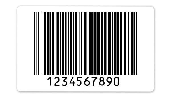 """Archivierungsetiketten Material:Polyethylen-Folie hochglänzend weiß Größe:80x50mm Kopfzeile:""""ohne"""" Barcode:128B Stellenanzahl:10-stellig Ausführung:1 Etikette pro Nummer Menge:1000"""