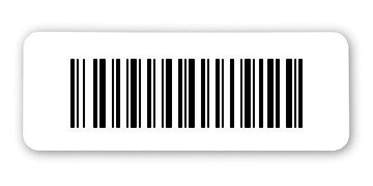 """Archivierungsetiketten Material:ThermoTop Größe:40x15mm Kopfzeile:""""ohne"""" Barcode:128B Stellenanzahl:7-stellig Sonderetikett:Ohne Klartext Menge:1000"""