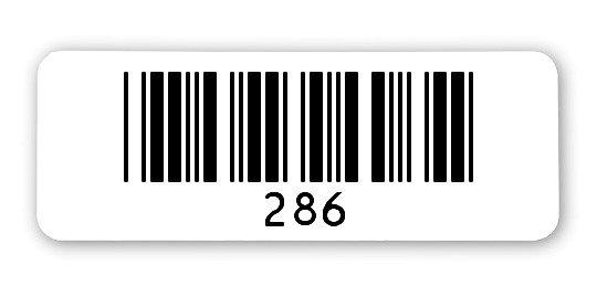 """Sonderetiketten Material:ThermoTop Größe:40x15mm Kopfzeile:""""ohne"""" Barcode:Code 39 ohne Prüfziffer Stellenanzahl:3-stellig Ausführung:1 Etikette pro Nummer Menge:1000"""