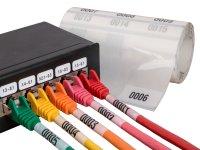 """Anwendung: Lan Kabel Material:Kabelmarkierer Größe:34x70mm Kopfzeile:""""ohne"""" Stellenanzahl:4-stellig Menge:300"""