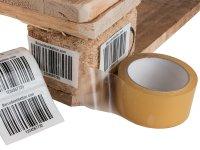 """Anwendung: Palettenetiketten Material:Polyethylen-Folie hochglänzend weiß Größe:80x50mm Kopfzeile:""""ohne"""" Barcode:128C Stellenanzahl:4-stellig..."""