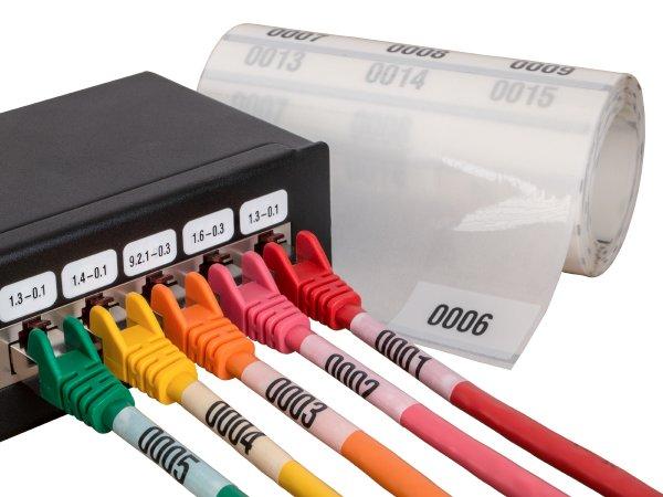 """Anwendung: Lan Kabel Material:Kabelmarkierer Größe:34x70mm Kopfzeile:""""ohne"""" Barcode:ohne Stellenanzahl:4-stellig Ausführung:2 Etiketten pro Nummer Menge:300"""