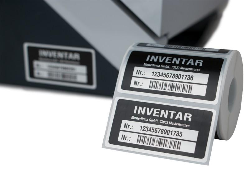Inventaretiketten zur Inventarisierung