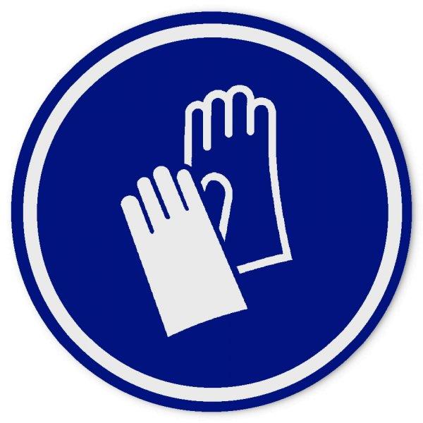 """Gebotsplaketten Material:Folie weiß, blauer Druck Größe:Ø 75mm Kopfzeile:""""ohne"""" Barcode:ohne Stellenanzahl:ohne Ausführung:1 Etikett pro Nummer Etiketten je Rolle:10"""